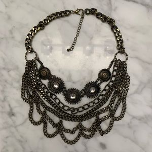 Bronze chained statement necklace